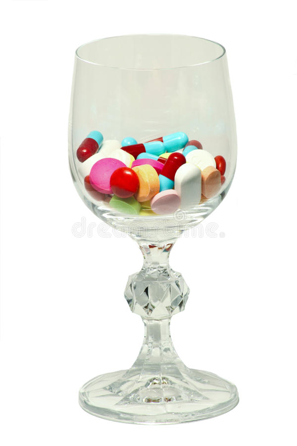 Download Glass of medicines stock image. Image of capsule, drug - 25074665
