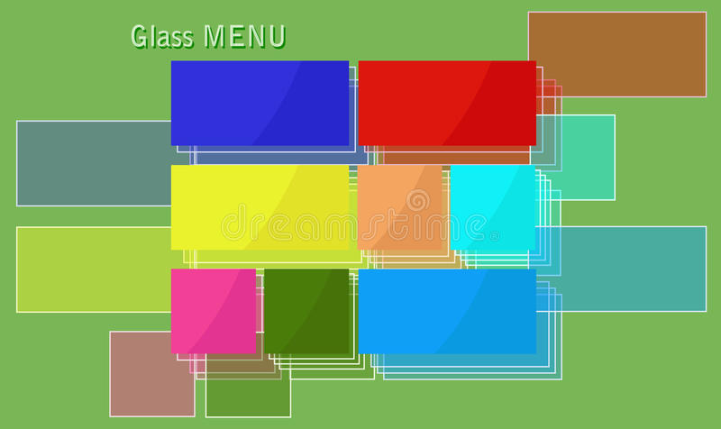 Glass menu. stock illustration