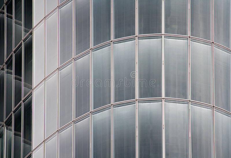 Glass and metal, high-tech background stock image