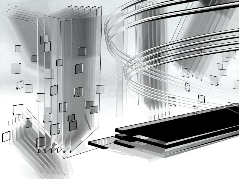 glass metall royaltyfri illustrationer