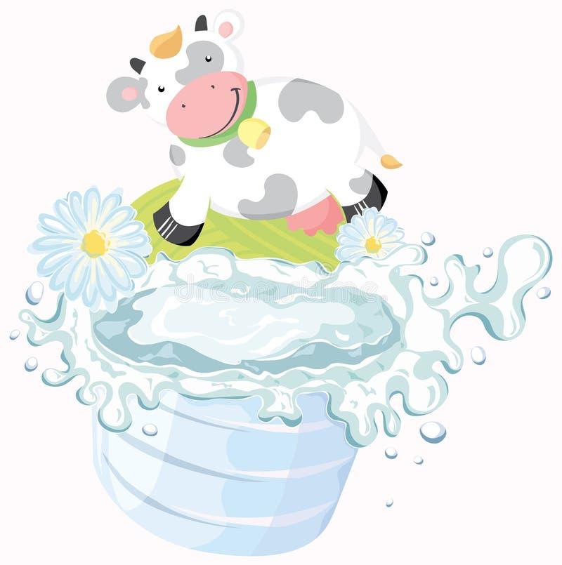 Download Glass of milk stock vector. Image of drops, natural, milk - 19527359