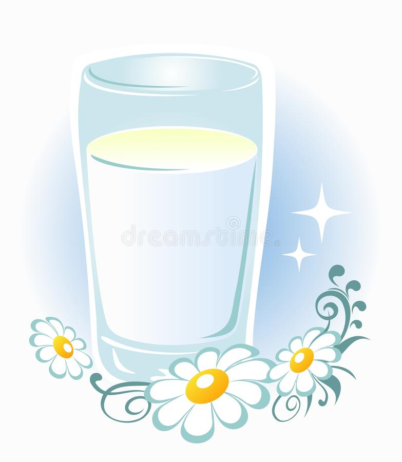Download Glass of milk stock vector. Image of glass, light, drink - 22213246