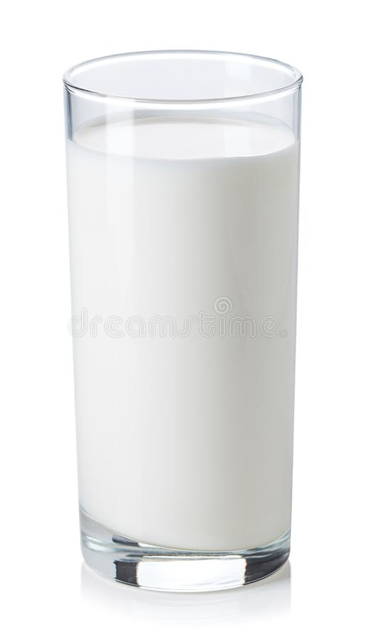Glass of milk on white background stock images