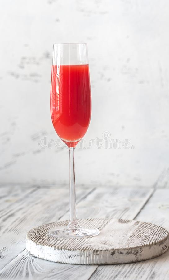 Glass of Mimosa cocktail royalty free stock image