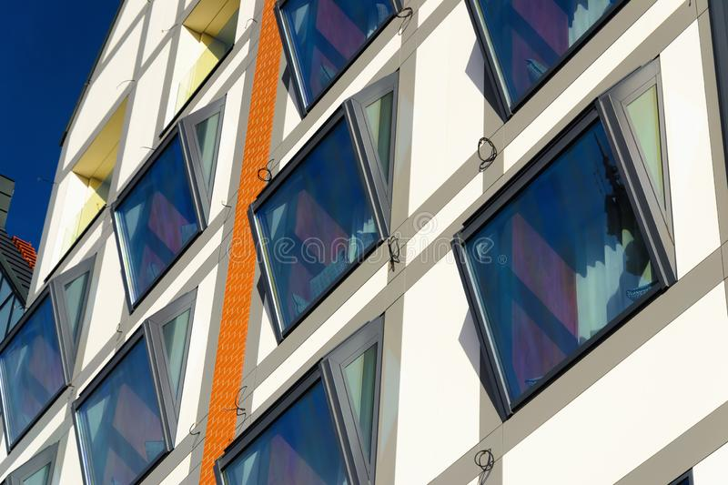 Glass modern building in Gdansk, Poland stock photo