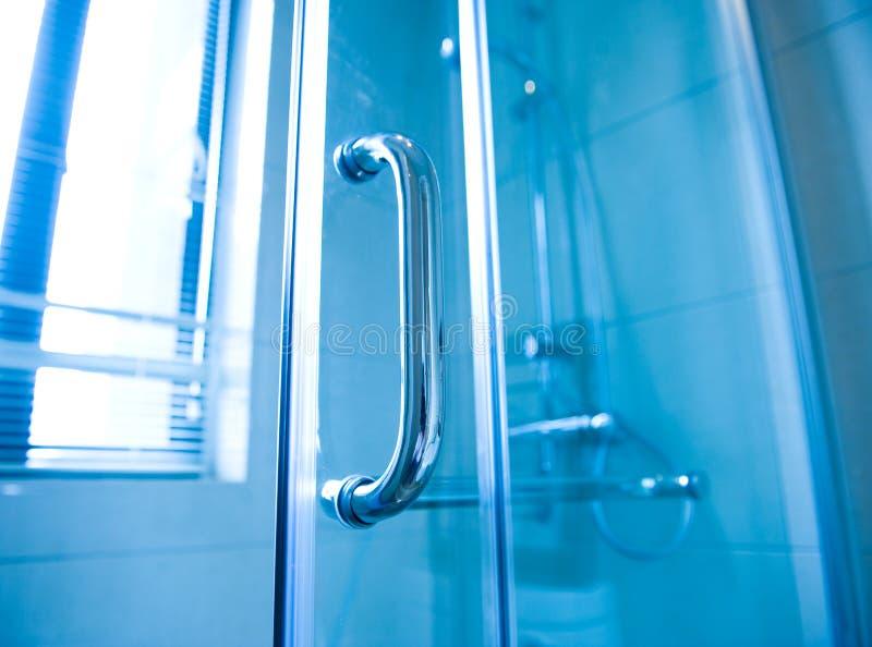 glass modern dusch för kabin arkivfoton