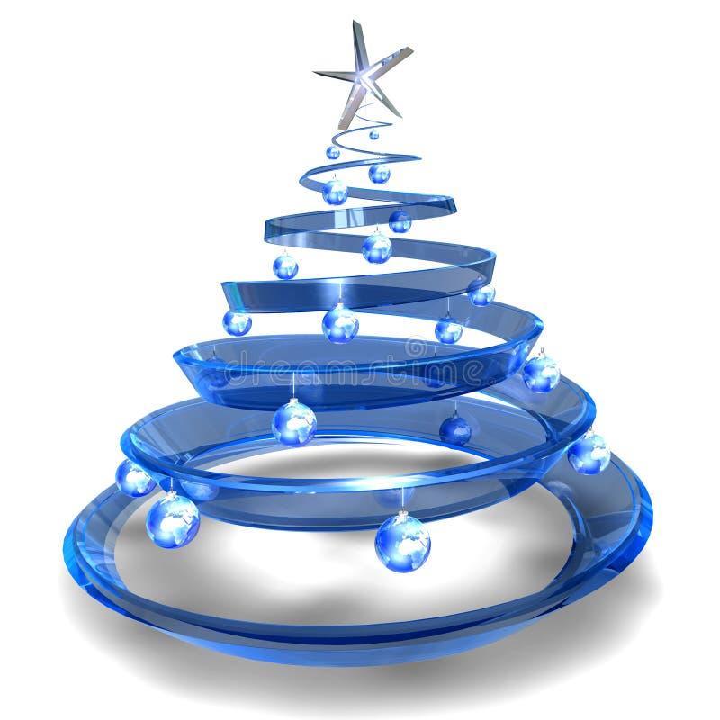 glass modern tree för jul royaltyfri illustrationer