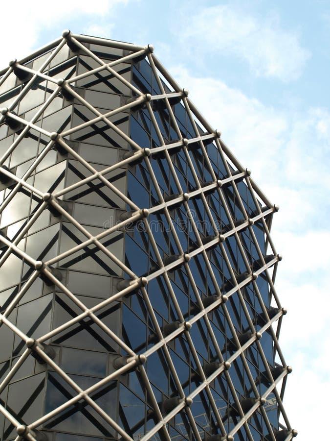 glass moderna fönster för byggnadsaffär arkivbild