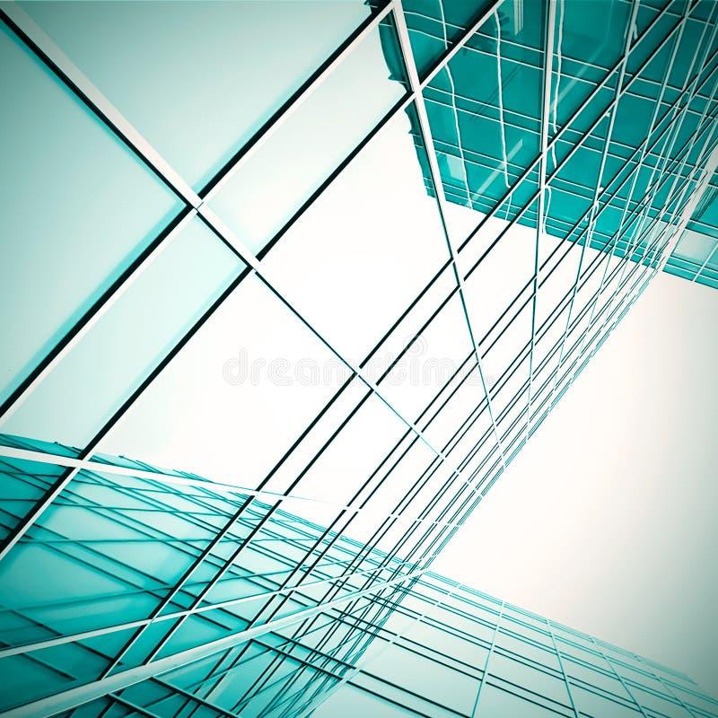 glass moderna nattskyskrapor royaltyfria bilder
