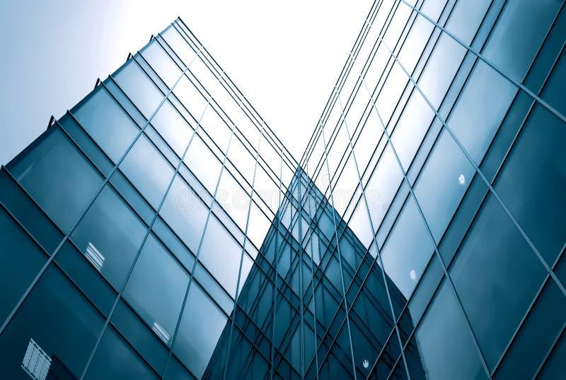 glass moderna silhouettesskyskrapor arkivbilder