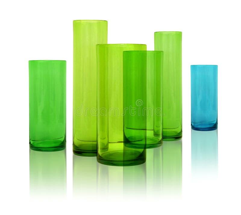 glass moderna vases arkivfoto