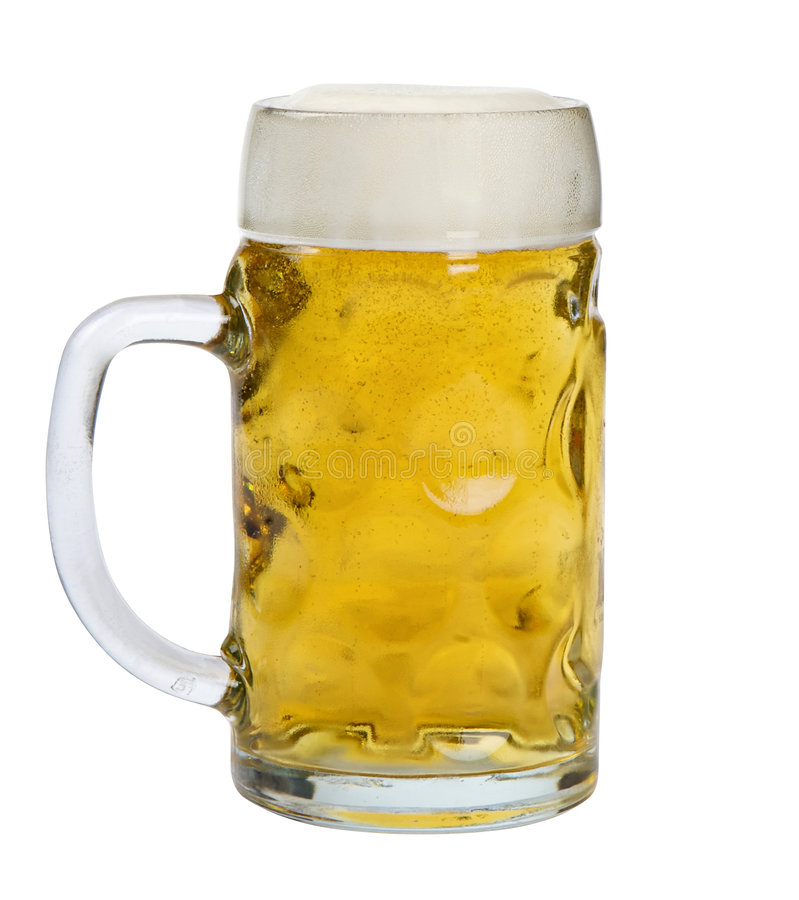 Download Glass mug of lager beer stock image. Image of amber, close - 8178907