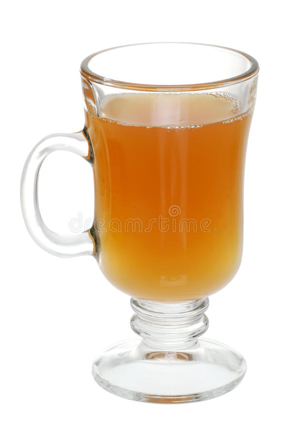 Glass Of Mulled Apple Cider stock photo