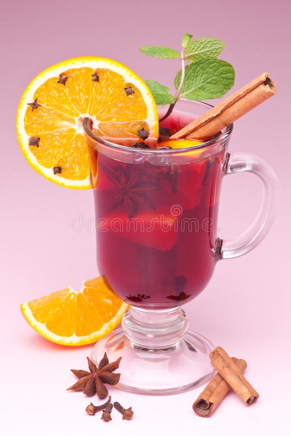 Download Glass of mulled wine stock photo. Image of orange, drinks - 17762176
