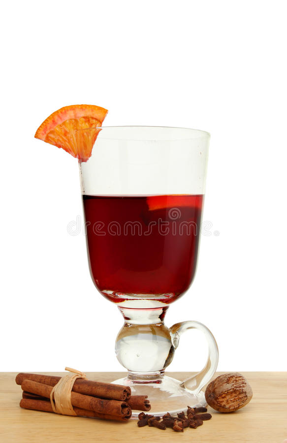Glass Of Mulled Wine Stock Images