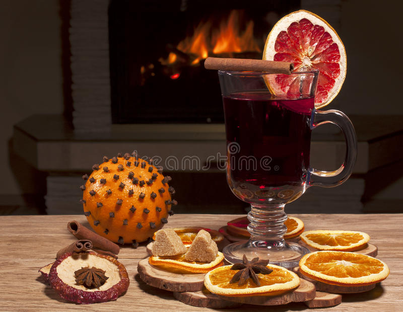 Download Glass of mulled wine stock photo. Image of life, decoration - 27809732