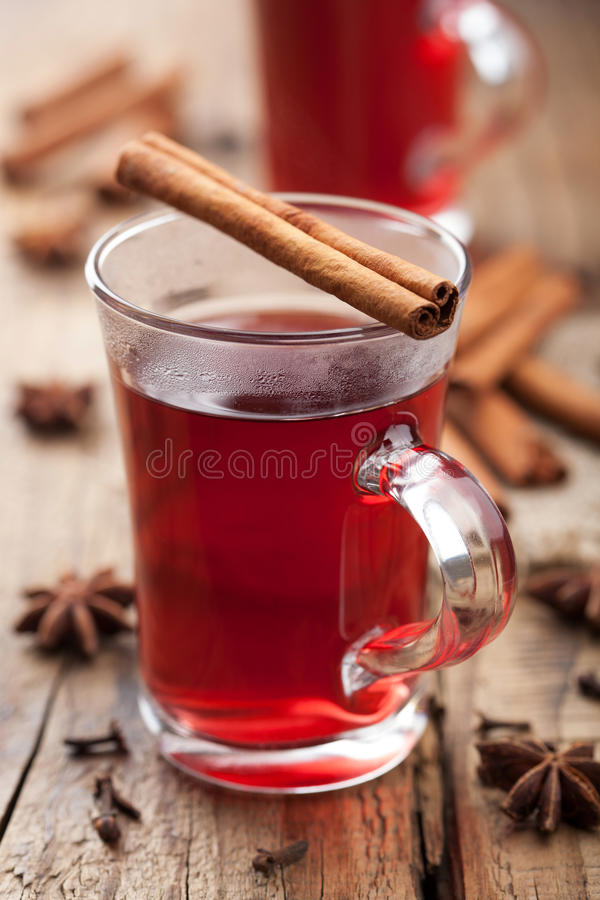 Download Glass of mulled wine stock photo. Image of cinnamon, teacup - 28635280