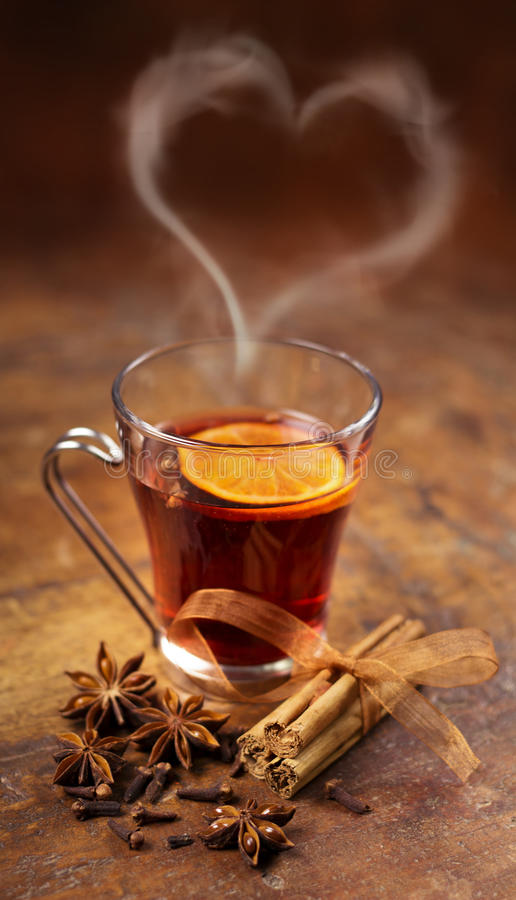 Download Glass of mulled wine stock photo. Image of spice, aromatic - 41240060