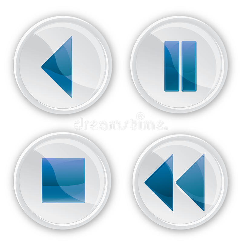 Download Glass music buttons stock illustration. Image of blue - 15847462