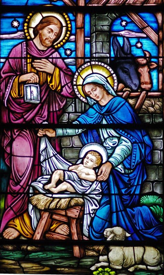 glass nativity royaltyfri foto