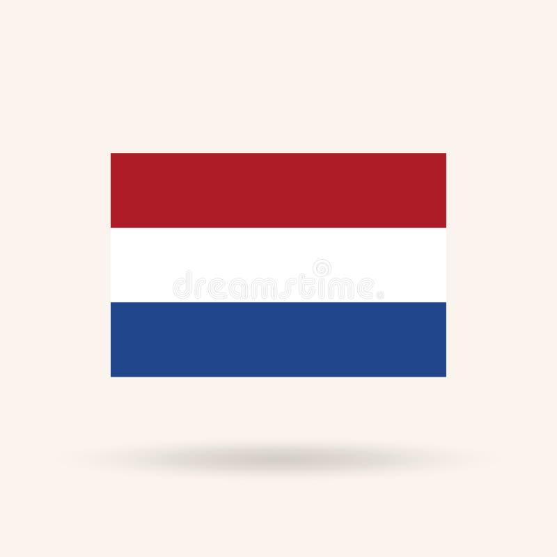 glass nederländsk stilvektor för tillgänglig flagga vektor illustrationer