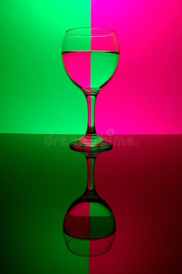 Download Glass on neon background stock photo. Image of transparent - 521844