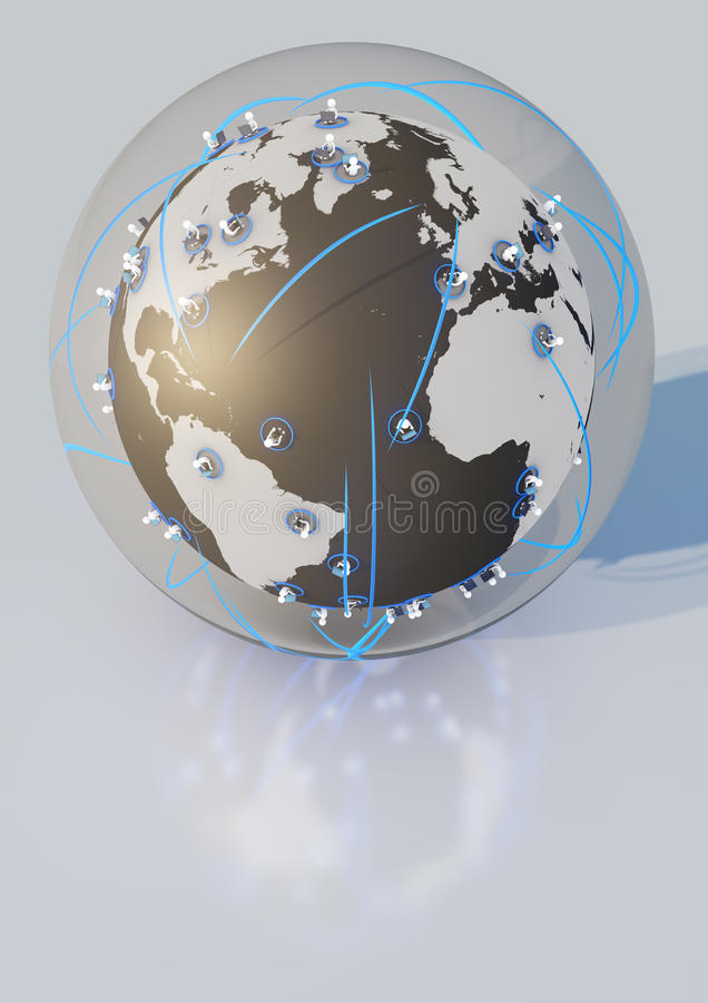 Glass network ball royalty free illustration
