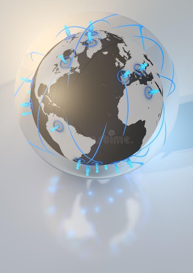 Glass network ball vector illustration