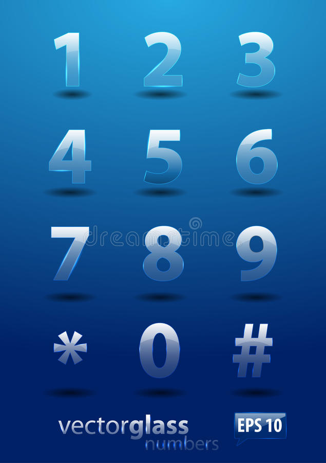 Download Glass Numbers Royalty Free Stock Photography - Image: 24315627