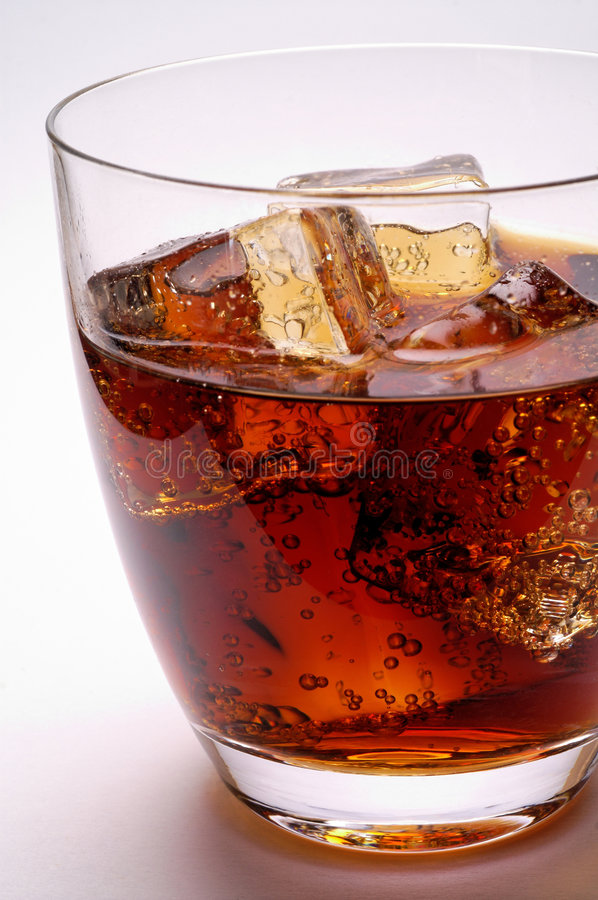 Free Glass Of Cola Drink With Ice Stock Images - 2185544
