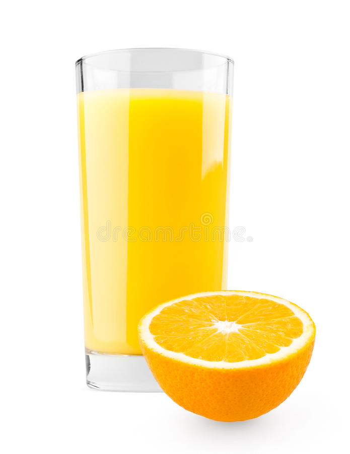 Free Glass Of Juice And Orange Half Stock Image - 21799431