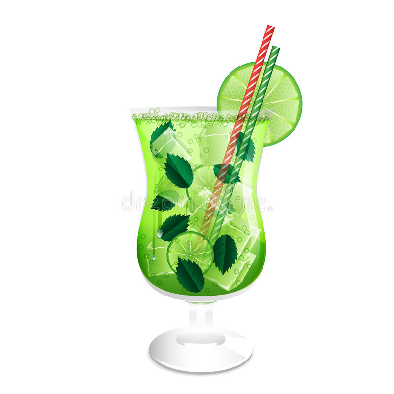 Free Glass Of Mojito Cocktail Royalty Free Stock Images - 31386189