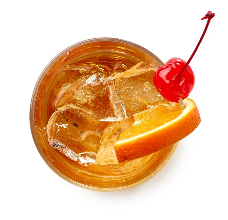 Free Glass Of Old Fashioned Cocktail Stock Images - 110283384