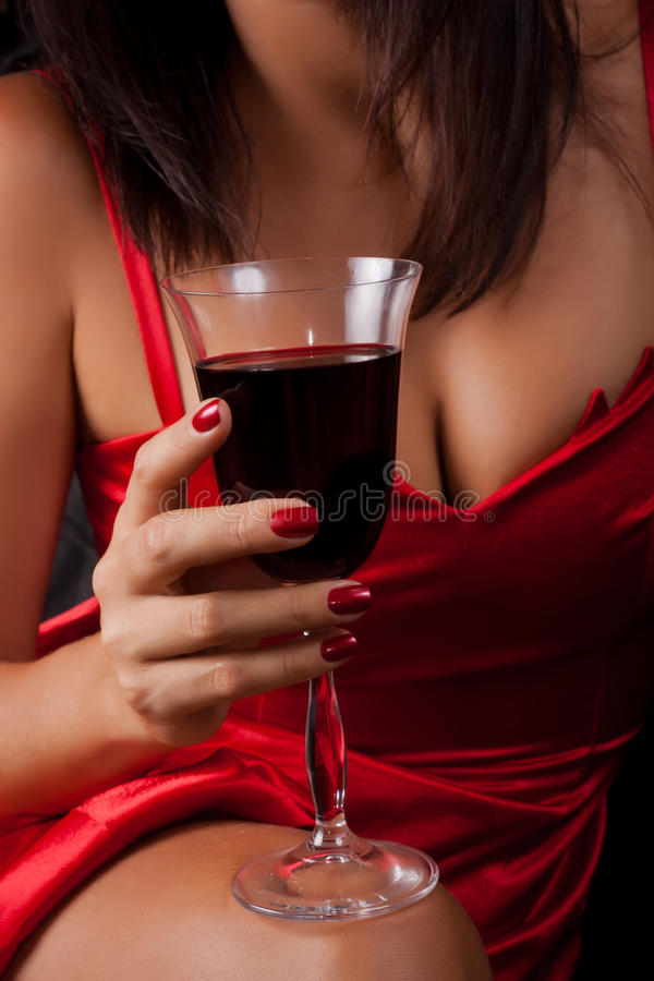 Free Glass Of Red Wine Stock Photography - 20486552