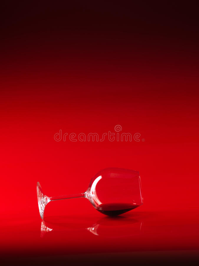 Free Glass Of Red Wine On Red Background Royalty Free Stock Images - 21668749