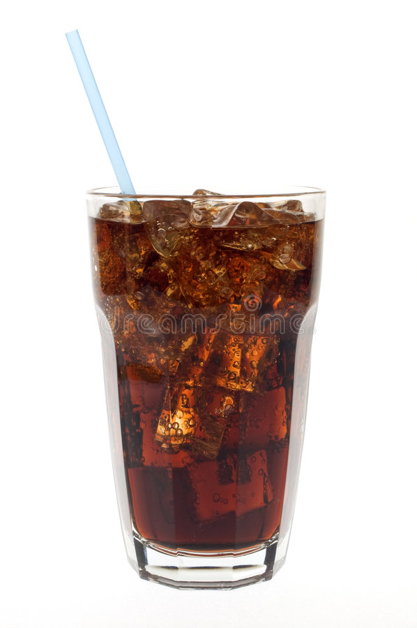 Free Glass Of Soda With Straw Stock Photography - 4878942