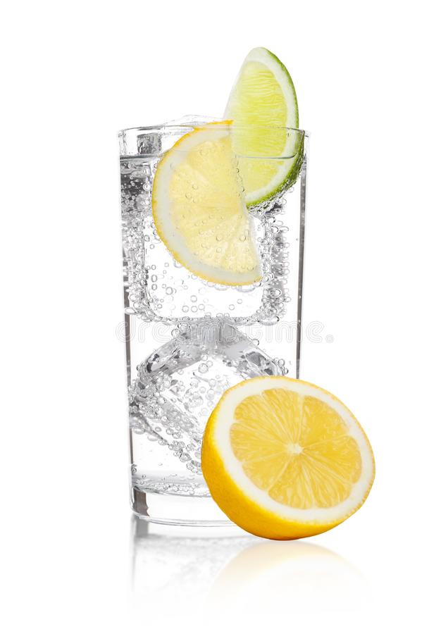 Free Glass Of Sparkling Water Soda Drink Lemonade Stock Photos - 104636083