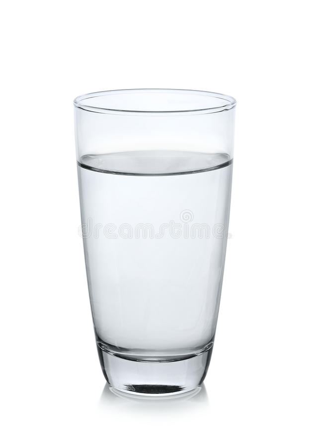 Free Glass Of Water On White Background Royalty Free Stock Photography - 75738107