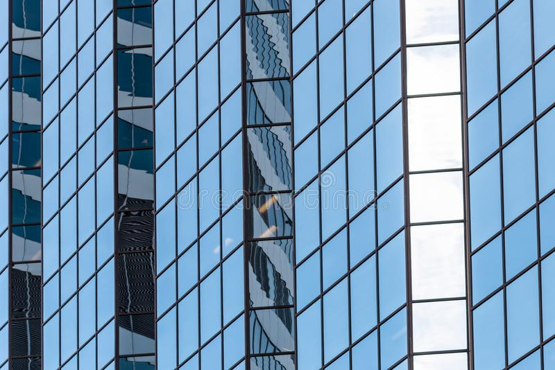 Glass Office Building in a Financial Distric. Detail of a Glass Office Building in a Businees District. Toronto, ON, Canada stock photos