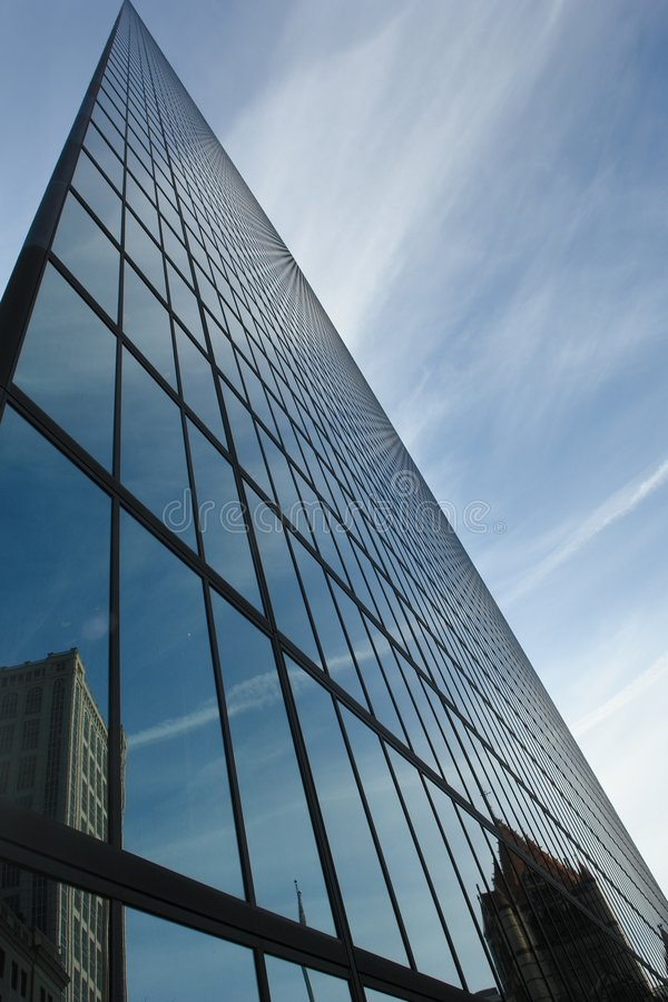 Glass office buildling stock image
