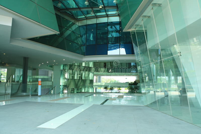 Glass office entrance royalty free stock photo
