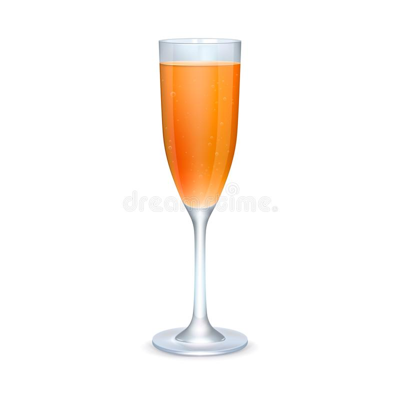 Glass of orange cocktail royalty free stock photos
