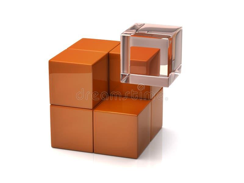 glass orange för ang-kub stock illustrationer