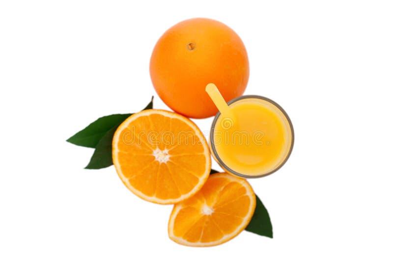 Glass of orange juice isolated on white stock photography