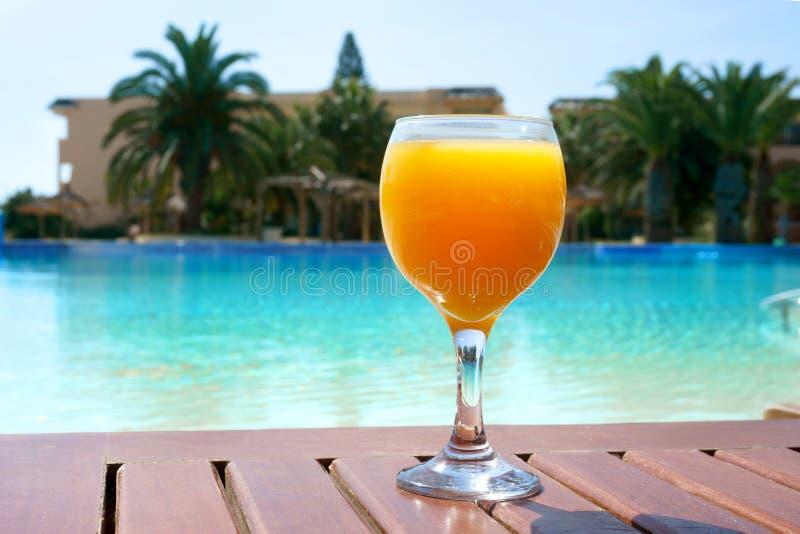 Glass of orange juice stock photos