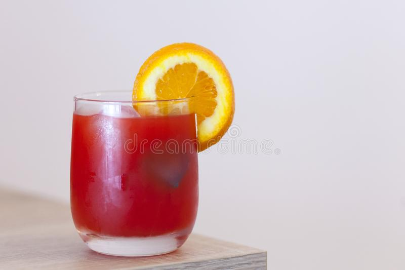 A glass of orange juice royalty free stock photos