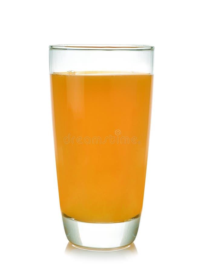Glass of orange juice on white background stock image