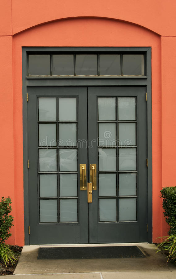 Download Glass-paneled double door stock image. Image of french - 20304359