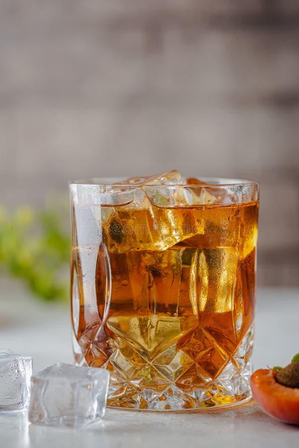 Peach or apricot iced tea stock photography