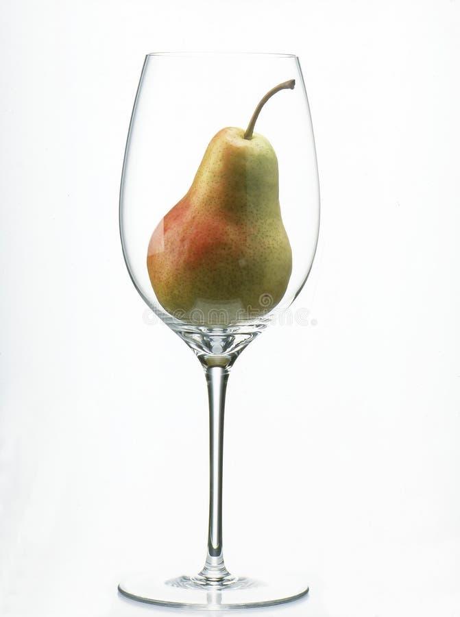 glass pearwine royaltyfri foto